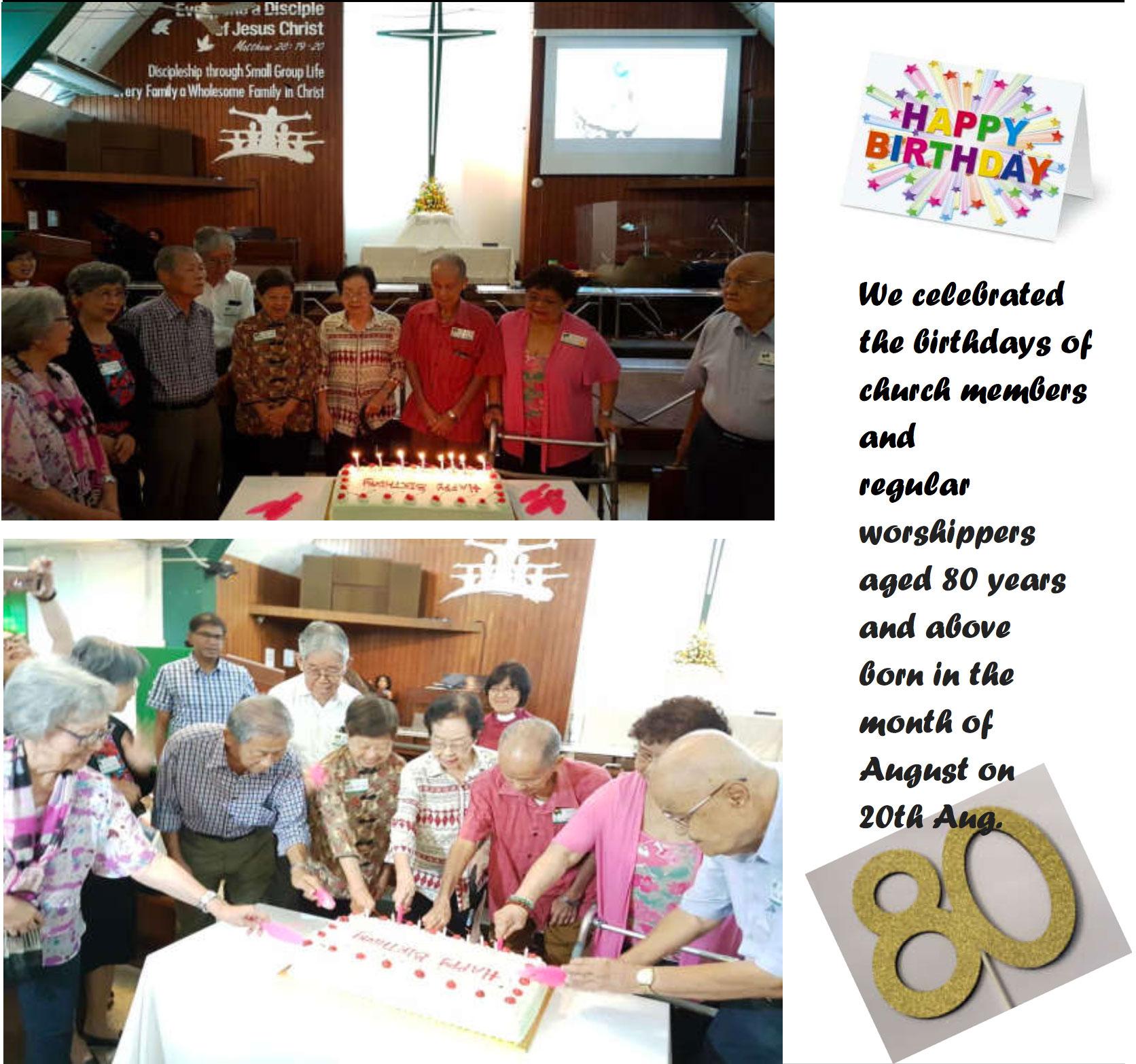August 2017 Birthday Celebrations