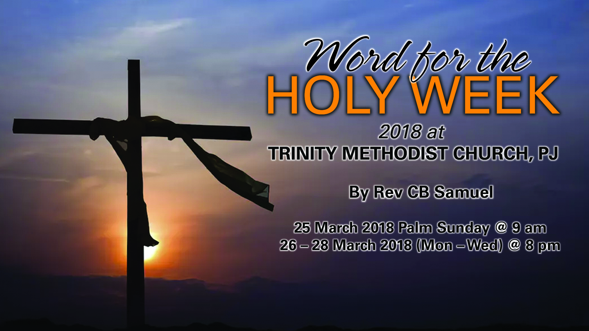 TMCPJ Holy Week 2018